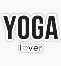 Yoga Lover with Heart Sticker