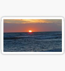 Serene sea sunset Sticker