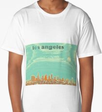 los angeles travel poster 3 Long T-Shirt