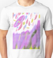 Hand painted  neon pink lime green watercolor brushstrokes Unisex T-Shirt