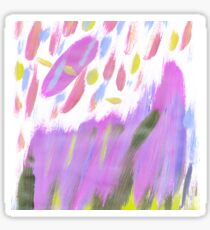 Hand painted  neon pink lime green watercolor brushstrokes Sticker