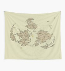 FF7 Vintage Map V01  Wall Tapestry
