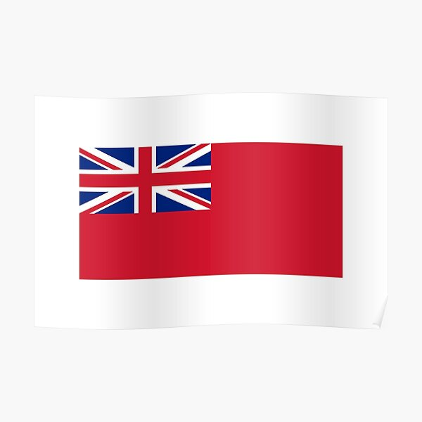 Red Ensign. NAVY, Merchant Navy, Flag, Red Duster, Royal Navy Flag. Poster