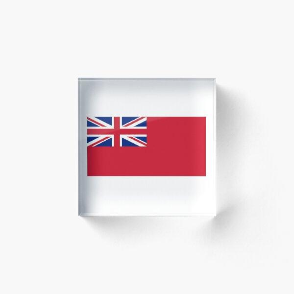 Red Ensign. NAVY, Merchant Navy, Flag, Red Duster, Royal Navy Flag. Acrylic Block