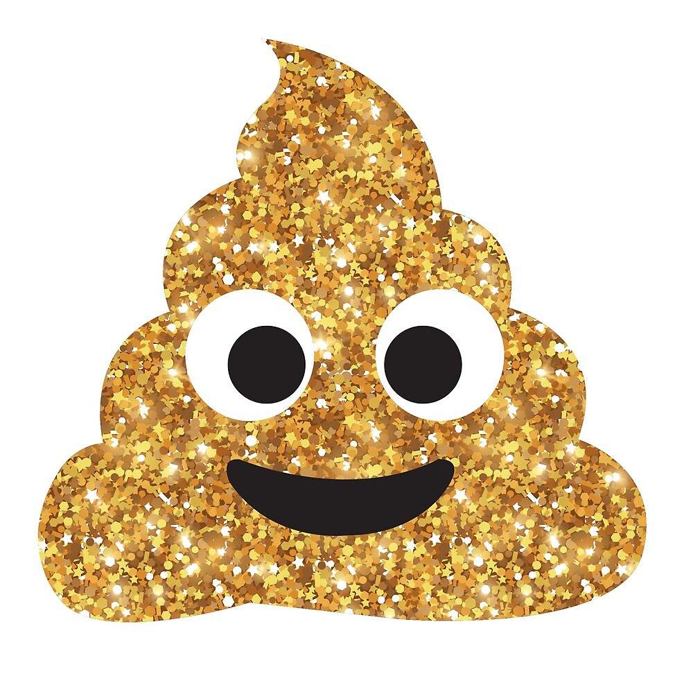 Glitter Poop by vyhdesign