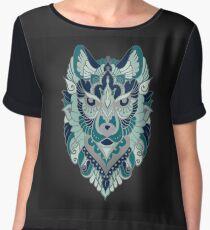 tribal ethnic wolf Chiffon Top