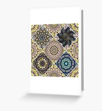 Colorful floral seamless pattern Greeting Card