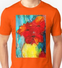 Red poppies alcohol ink painting Unisex T-Shirt