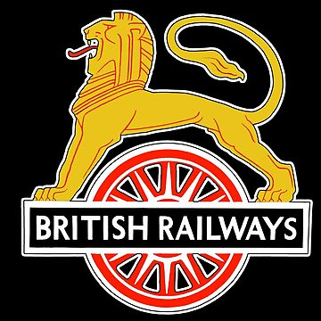 BRITISH RAILWAYS, BR, SIGN, First logo, British Railways, 'Cycling Lion' by TOMSREDBUBBLE