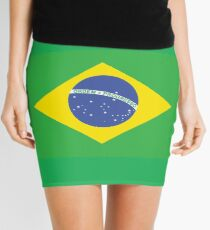 BRAZIL, BRAZILIAN FLAG, FLAG OF BRAZIL, PURE & SIMPLE, Brazil, Soccer, Football, Olympics, on GREEN Minirock