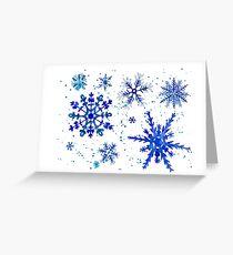 Copos de nieve Greeting Card