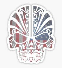 USA Tribal Skull. Sticker