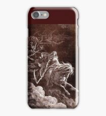 DORE, DEATH, Death on the Pale Horse, Gustave Doré, 1865, Revelations, Seven Seals iPhone Case/Skin