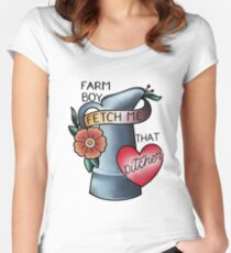 Farm Boy Fitted Scoop T-Shirt