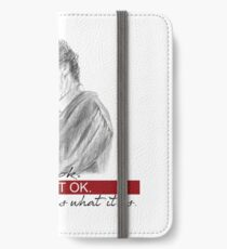Sherlock Holmes & Dr. Watson quote iPhone Wallet