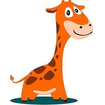 Animal Fun - Happy Giraffe by funnyfuntees
