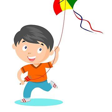 Happy Kite Kid by funnyfuntees