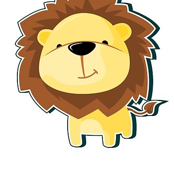 Animal Fun - Happy Lion by funnyfuntees