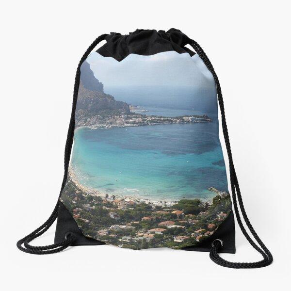 Palermo Italy Skyline Drawstring Bag