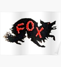 Black Fox, Red Letters Poster