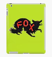 Black Fox, Red Letters iPad Case/Skin