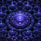 Purple Glitzy Spheres by Beatriz  Cruz