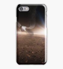 SpaceX Red Dragon Descending To Mars iPhone Case/Skin