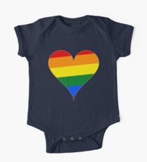 Rainbow Pride Heart Kids Clothes