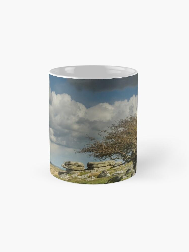 Alternate view of Wind-blown Hawthorn on Dartmoor Mug