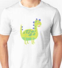 Cute funny green dinosaur Unisex T-Shirt