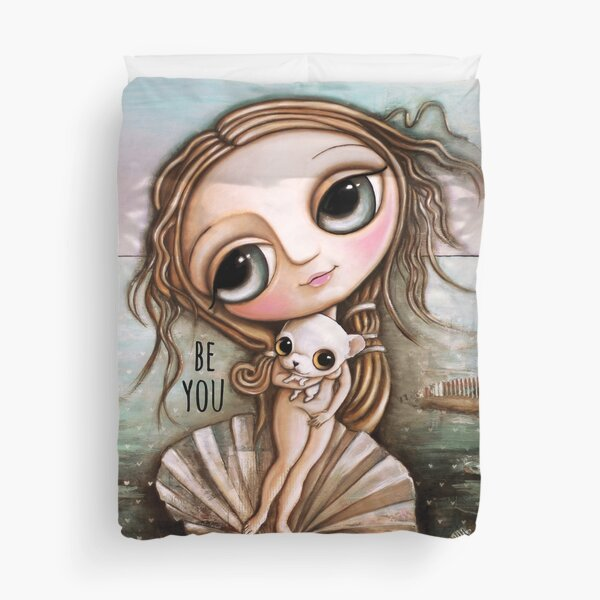 The birth of Venus and Chiwawa Duvet Cover