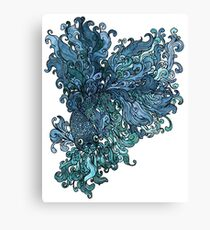 Betta Splendens - Blue Canvas Print