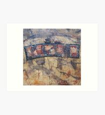 Gondwana encaustic stitched Art Print