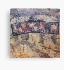 Gondwana encaustic stitched Canvas Print