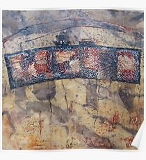 Gondwana encaustic stitched Poster