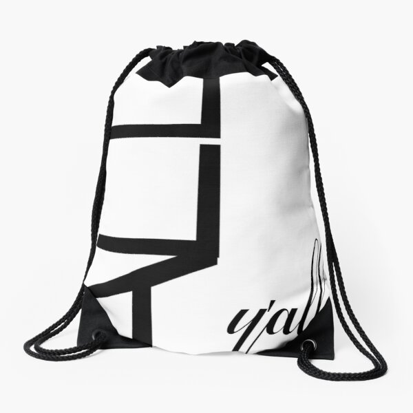 Typography Graphic Design - All Y'all Drawstring Bag
