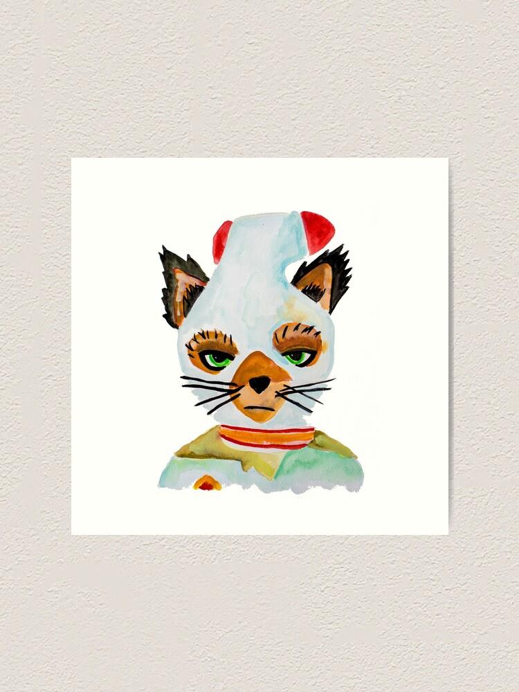 Ash Fantastic Mr Fox Art Print By Pintarrajearte Redbubble