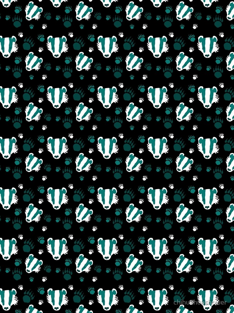Badger prints in teal by chihuahuashower