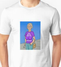Woman With Sagging Breasts Isaac Newton Sucks! Unisex T-Shirt