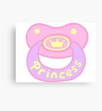 Princess Pacifier Canvas Print