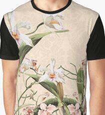 Orchids and Butterfly Graphic T-Shirt