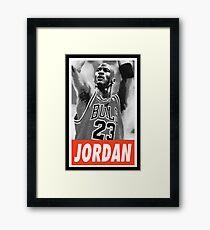 -BASKETBALL- Michael Jordan Framed Print