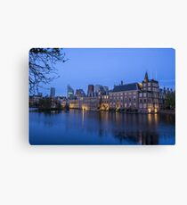 Hague Netherlands Night Skyline  Canvas Print