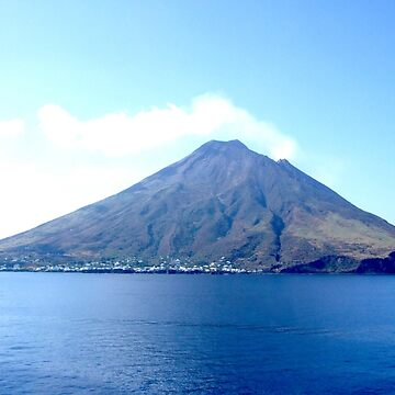 VOLCANO, Volcanic, Active Volcano, Stromboli, Eruption, Italy, from the sea by TOMSREDBUBBLE