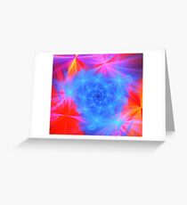 Blue Red Stars Greeting Card