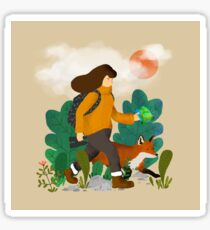 The wanderer and the fox Sticker