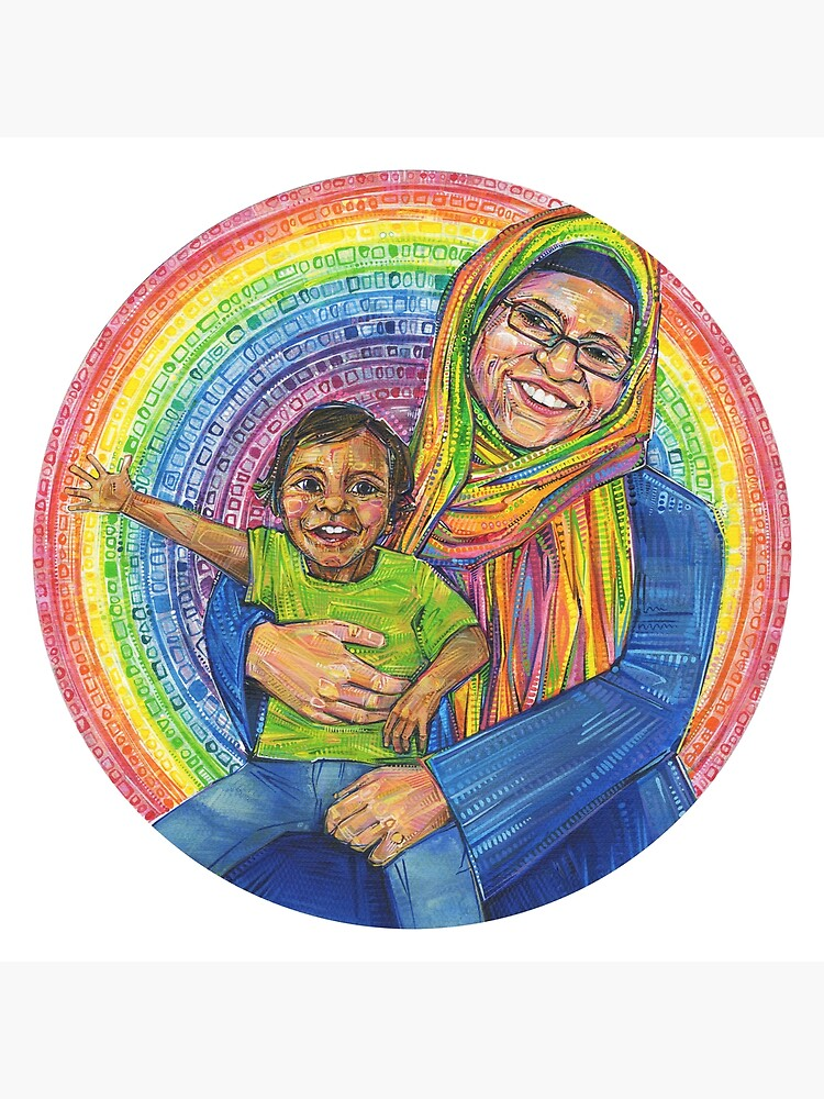 Mother and Child Painting - 2017 by gwennpaints