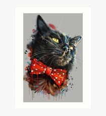 Caturday- Treasury Mog Gladstone  Art Print