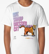 One Sharp Dressed Cat Long T-Shirt