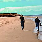 My daughters on the beach at Thunder Cove, PEI, Canada by Shulie1